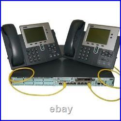 Cisco Lab CUCM 12.5 Server Dell R620 32GB RAM 2811 Voice Gateway H. 323 SIP Trunk