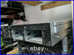 DELL PowerEdge R710 Dual x5550 12GB Dual PSU server 2u idrac6 enterprise 4 caddy