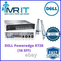 DELL PowerEdge R720 2 x E5-2643 3.3GHz 8CORE 128GB RAM H710p Rails Included