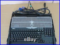 Dell PowerEdge 15FP 1U Rack Mount 15 GK545 TFT LCD Screen KVM Monitor Server
