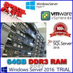 Dell PowerEdge R610 2x 6-Core XEON X5660 2.80Ghz 64GB DDR3 4x 600GB SAS 10K 2.5