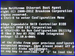 Dell PowerEdge R610, 2x Xeon X5560 2.8GHz, 16GB, 2x PSU, PERC H700, No HDD