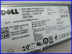 Dell PowerEdge R610 Server 2x Xeon Quad Core L5530 @2.4GHz, 4GB RAM, 0HCR2Y 1PSU