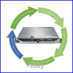 Dell PowerEdge R620 Server Xeon E5-2680 2.70GHz = 16-Cores 96GB RAM PSU