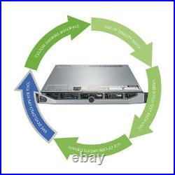 Dell PowerEdge R630 Server 2x E5-2620 V3 2.4GHz = 6 Cores 96GB H330 2x Trays