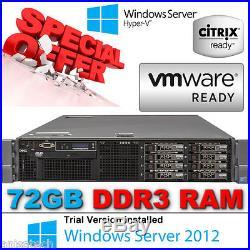 Dell PowerEdge R710 2x HexCore XEON L5640 2.26GHz 72GB Perc6i 900GB 2.5 10K SAS