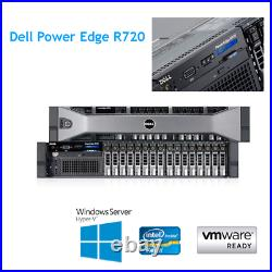 Dell PowerEdge R720 2 x E5-2667 6 Core 2.9Ghz 64GB RAM H710 Mini Rail Kit