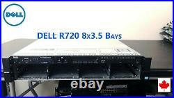 Dell PowerEdge R720 8x 3.5 Bay 2U Server H710 iDRAC7 Enterprise Custom Config