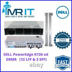 Dell PowerEdge R720 XD OEMR 2 xIntel Xeon E5-2620 v2@2.10GHz 128 GB RAM w Rails