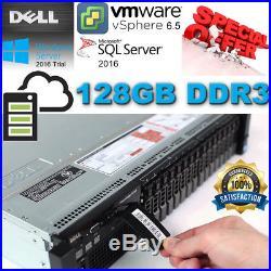 Dell PowerEdge R720 Xeon E5-2650 2.00GHz 128GB DDR3 4x300Gb 10K H710 Mini 512mb