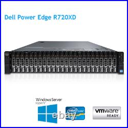 Dell PowerEdge R720XD 2 x E5-2650 v2 8 Core 2.6Ghz 64GB RAM H710 26 x CADDY