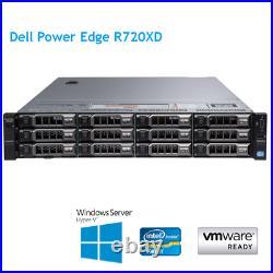 Dell PowerEdge R720XD 2 x E5-2690 v2 10Core 3.0Ghz 256GB RAM H710p Rails Bezel