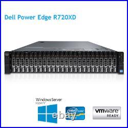 Dell PowerEdge R720XD 2 x E5-2690 v2 10Core 3.0Ghz 256GB RAM H710p Rails Bezel S