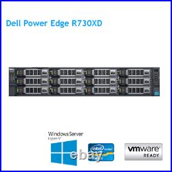 Dell PowerEdge R730XD 2 x E5-2673 V3 2.40Ghz 12 Cores 128GB RAM H330 Rails Caddy