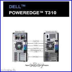Dell PowerEdge T310 X3450 2.66Ghz Quad Core 16GB DDR3 2TB 7.2K RPM PERC6/i 2xPSU