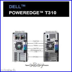 Dell PowerEdge T310 X3450 2.66Ghz Quad Core 32GB DDR3 4TB 7.2K RPM PERC6/i 2xPSU