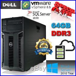 Dell PowerEdge T410 2x Six Core X5650 2.66Ghz 64GB DDR3 4x500GB SATA 7.2K Perc6i