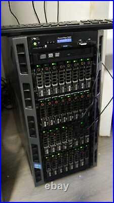 Dell PowerEdge T620 Tower 32x300gb 10k dual e5-2650 128gb ram h710 9.6tb CHIA