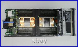 Dell Poweredge M630 Blade 2X E5-2620 V3, NO RAM, NO HDD, RAID H73OP P/N YRPP6