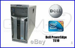 Dell Poweredge T610 1x Intel Xeon E5506 16GB RAM 600GB SAS Raid 2x570W Server