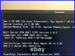 Dell Poweredge T620 2x E5-2630 2.30GHz 64GB DDR3 2x750W With IDRAC7Tower Server