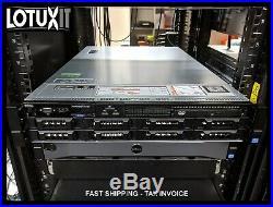 Dell R720 8 Bay 2x E5-2670v2 2.5GHz 10C 256GB RAM BCM57800S IDSDM Rails Bezel