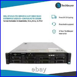 Dell R720v2 Cto Server 8 X Lff Drive Bays Enterprise Licence